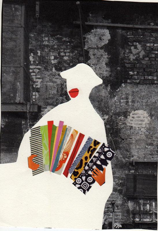 collage accordeon speler