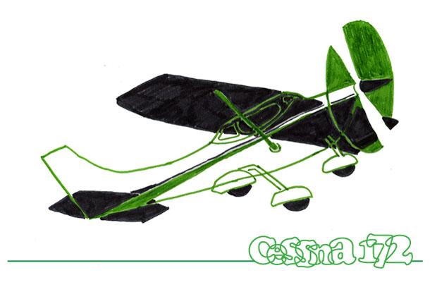 Cessna 172 stilering