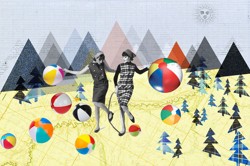 photoshop collage vrouwen met ballen