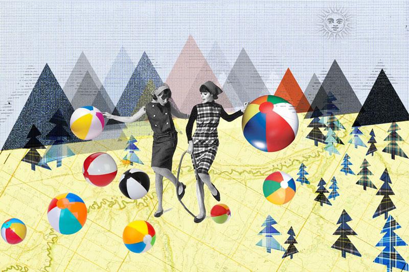 photoshop collage vrouwen met ballen