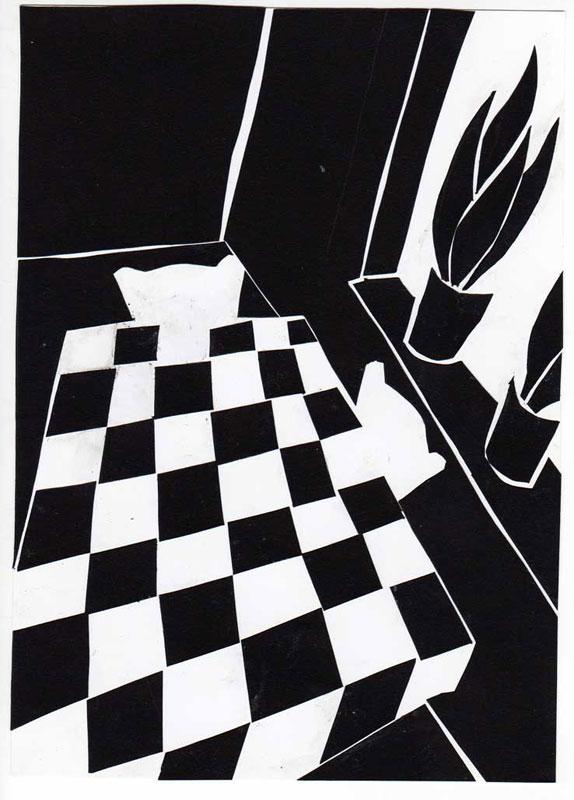 zwart wit huiskamer