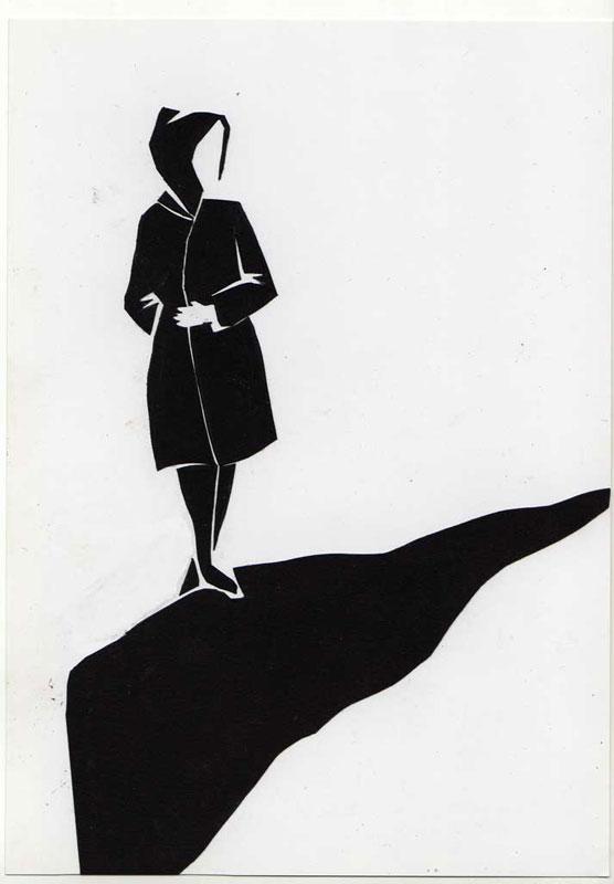 zwart wit wandelen